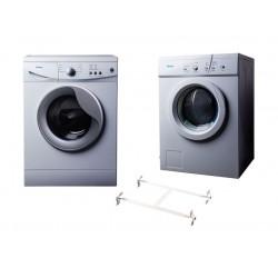 Wansa Gold WGFL60105WHT-C10 Front Load Washer 6kg + Wansa Gold WGFVD603 Air Vented Dryer 6kg + Wansa Washer and Dryer Stacking Unit