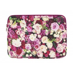 MacBook 12-inch Photographic Roses Sleeve Case - Purple