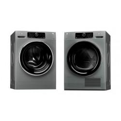 Whirlpool Front Loader Washer 10kg Silver + Whirlpool 10 Kilogram Dryer Condenser