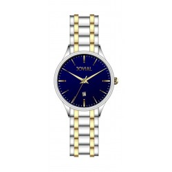 Jovial Casual Analog Quartz Gents Metal Watch (5028-GTMQ-04) - Silver/Gold