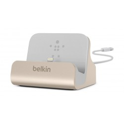 Belkin Charge And Sync Dock with Lightining Pin (F8J045bt ) - Gold