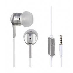 Thomson In-ear Wired Earphone with Microphone (132496) - SIlver