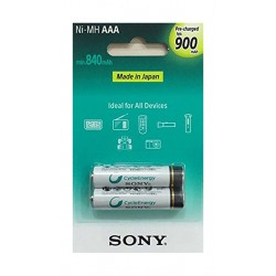 Sony AAA Cycle Energy Multi-Use Premium 2Pcs 840mAh Blister Battery Pack (NH-AAA-B2GN) - White