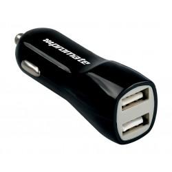 Promate Vivid Dual USB Universal Car Charger - Black