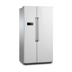 Wansa 22 CFT Side by Side Refrigerator (WRSG-628-NFWTC52) - White