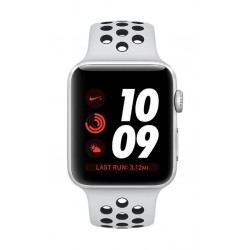 Apple Watch Nike+ Series 3 Silver Aluminum Case, Pure Platinum Black Sport Band Smartwatch - MQKX2AE/A