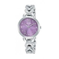 Alba Ladies Fashion Analog 28mm Metal Watch (AH8443X1) - Silver