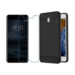 Nokia 3 Back Cover + Tempered Screen Pro