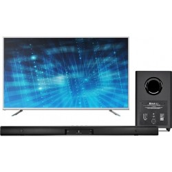 Wansa 75 inch Ultra HD Smart LED TV + JBL Bar 2.1 Channel 300W Soundbar with Wireless Subwoofer