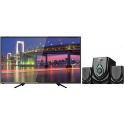 Wansa 32 inch HD LED TV + Wansa 2.1Ch 40W FM USB Mini Multimedia System