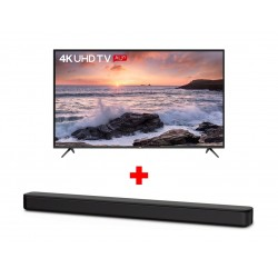 TCL 65 inch UHD Smart LED TV - (L65P65US) + Sony 120W Soundbar (HT-S100F) - Black