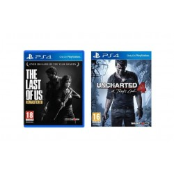 Uncharted 4: A Thief's End - Standard Edition + The Last of Us (Remastered) - PS4 Game