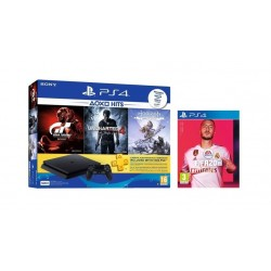 Sony PlayStation 4 Slim 500GB + 4 PS4 Games + 3 Months PSN Card