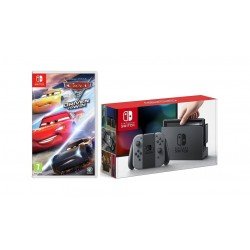 Nintendo Switch Portable Gaming System Grey + Cars 3 Driven to Win Game