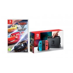 Nintendo Switch Portable Gaming System Blue/Red + Cars 3 Drive to Win Game
