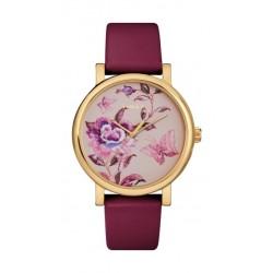 Timex 38mm Casual Ladies Analog Leather Watch (TW2U19200) - Maroon