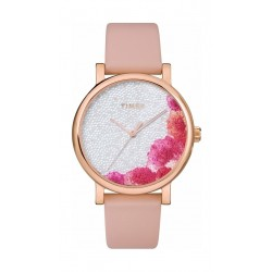 Timex 38mm Casual Ladies Analog Leather Watch (TW2U18500) - Pink