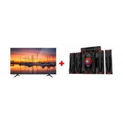 Wansa 5.1Ch 130W FM USB Mini Multimedia System (TK-903) + Wansa 65-inch 4K UHD Smart LED TV - (WUD65I8850S)