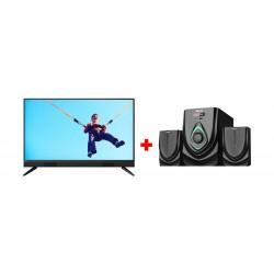 Philips 40-inch Full HD LED TV - (40PFT5583) + Wansa 2.1Ch 40W FM USB Mini Multimedia System (TK-521)