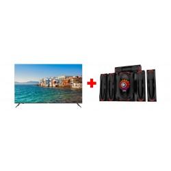Haier 55-inch 4K Smart LED TV (LE55K6600UG) + Wansa 5.1Ch 130W FM USB Mini Multimedia System (TK-903)