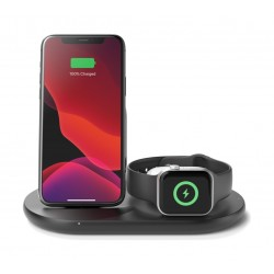Belkin Boost Charge 3-in-1 Wireless Charger for Apple Devices - Black