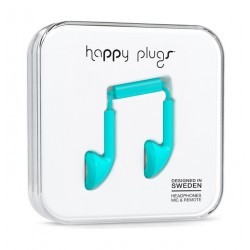 Happy Plugs Earbud Wired Earphones (HP-7707) - Turquoise