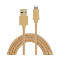 PQI Zikko Braided USB to Lightning Cable 5-meters - Gold