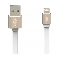 PQI i-Cable Metallic 100 Charge and Sync USB to Lightning Cable 1 Meter - Gold