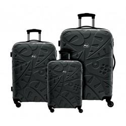 Kamiliant Pinnado 55+67+77cm Hard Luggage (AB0X64007) - Black