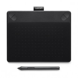 Wacom Intuos Comic Pen and Touch Drawing Tablet (CTH-490CK) – Small, Black
