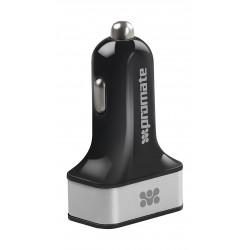 Promate Ternion 3 USB Premium Car Charger 7200mAh - Silver