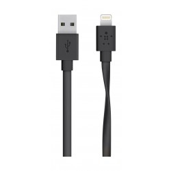 Belkin 1.2m Flat Lightning Cable to USB 2.0 - Black