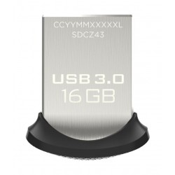 SanDisk Ultra Fit  16GB USB 3.0 Low-Profile Flash Drive Up To 130MB/s Read- SDCZ43-016G-G46