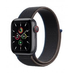 Apple Watch SE GPS and Cellular 40mm Space Gray Aluminium Case with Sport Loop (MYEL2AE/A) - Charcoal