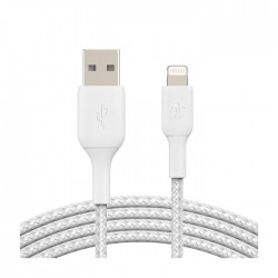 Belkin Braided Lightning to USB-A 1m Cable - White