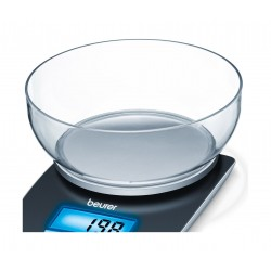 Beurer KS25 Kitchen Scale with Bowl and Illuminated Display
