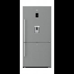 Beko 22 Cft.630L Bottom Freezer Refrigerator (CN163223DX) -  Pearl Steel