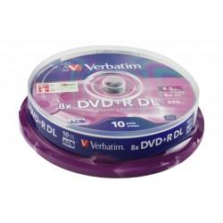 Verbatim  8.5GB 8x DVD+R Double Layer Matt Silver 10 Pack Spindle