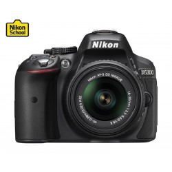 Nikon D5300 24.2MP WiFi DSLR Camera With 18-55 Zoom Lens - Black