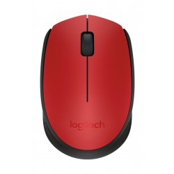 Logitech M171 2.4GHz Wireless Optical Mouse – Red