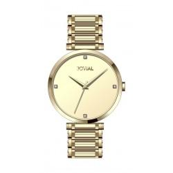 Jovial Casual Analog Quartz Gents Metal Watch (9161-GGMQ-07) - Gold