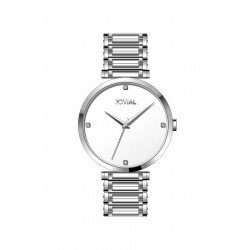 Jovial Casual Analog Quartz Gents Metal Watch (9161-GSMQ-01) - Silver