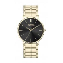 Jovial Casual Analog Quartz Gents Metal Watch (9162-GGMQ-03) - Gold