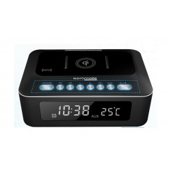 Promate TimeBase-2 10W Stereo Bluetooth Speaker and Wireless Charging Station - Black 1st view