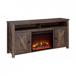 """Buy Wansa 65"""" Wood TV Stand with Fireplace in Kuwait 