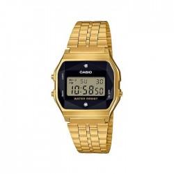 Casio Digital Gents Watch 34mm GMO with Metal Strap (A159WGED-1DF) - Gold