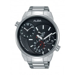 Alba A2A003X1 Gents Sport Analog Watch – Metal Strap – Silver