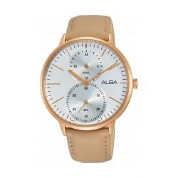 Alba 38mm Quartz Analog Gent's Leather Watch (A3A010X1) - Brown