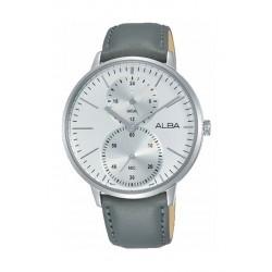 Alba 38mm Quartz Analog Gent's Leather Watch (A3A011X1) - Grey