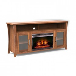 """Buy Wansa 80"""" Wood TV Stand with Fireplace in Kuwait 